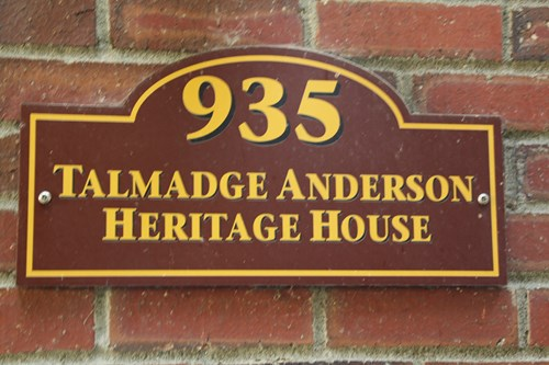 Talamadge Anderson Heritage House Placard